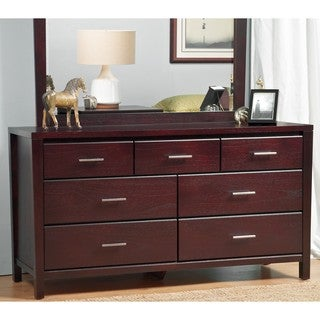 Tapered Leg Espresso 7-Drawer Dresser