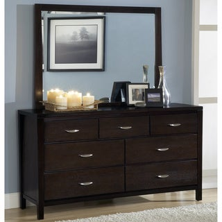Tapered Leg 7-Drawer Dresser with Half Moon Pull