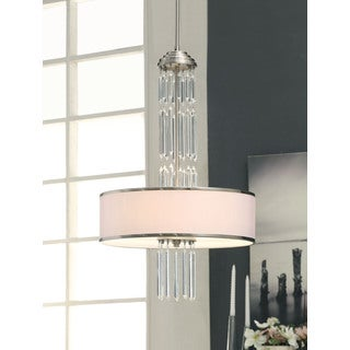 Deco 3-light Brushed Nickel Pendant