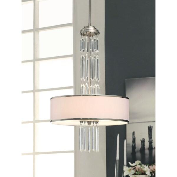 Deco 3-light Brushed Nickel Pendant