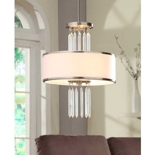 Deco 3-light Brushed Nickel Semi-flush Pendant