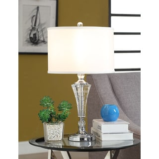 Emry Crystal 1-light Chrome Table Lamp