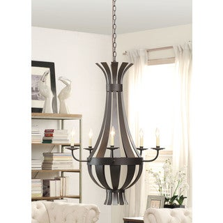Darius 5-light Matte Black Chandelier