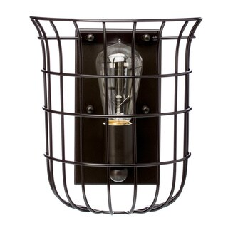 Caged Edison 1-light Bronze Sconce