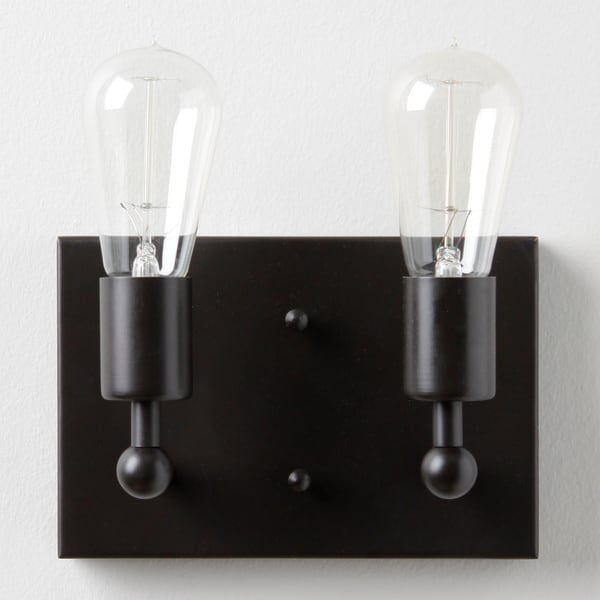 Shea Double Edison 2-light Bronze Sconce