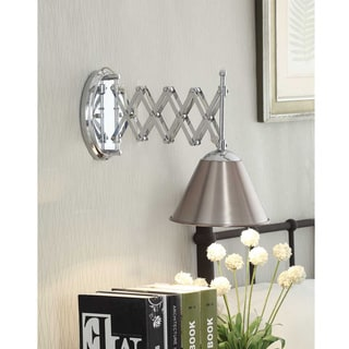 Accordion Swing-arm 1-light Brushed Nickel Wall Lamp