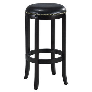 Jackson Bicast Leather Black Swivel 29-inch Bar Stool