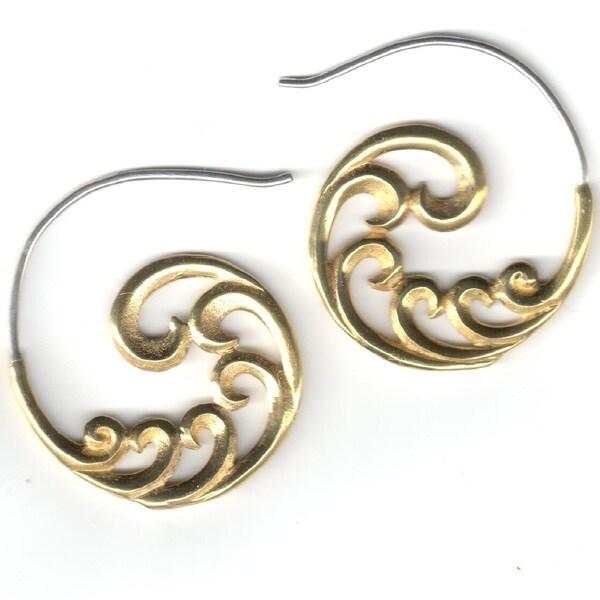 Sacred Swirls Tribal Fusion Earring (Indonesia)