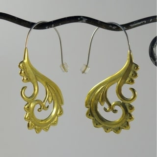 Ethnic Hoops Tribal Fusion Earrings (Indonesia)