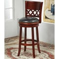 Santiago Cherry Bicast Leather 29-inch Swivel Bar Stool