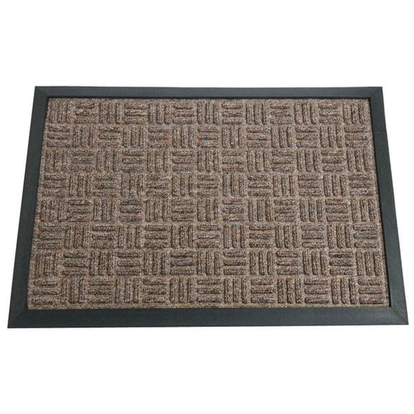 Rubber-Cal 'Wellington' Brown Carpet Rubber Mat (2' x 3')