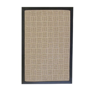 Rubber-Cal 'Wellington' Tan Indoor Doormat Carpet Matting (18 x 30-inch)