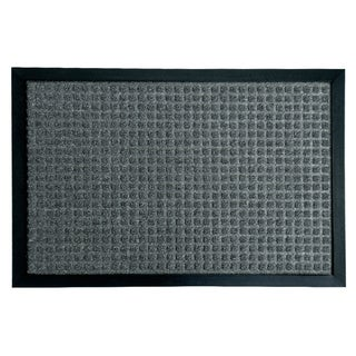 Rubber-Cal 'Nottingham' Charcoal Carpet Rubber Mat (2' x 3')
