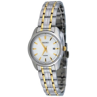 Seiko Women's SXDE67 Gold Stainless-Steel Quartz Watch with White Dial