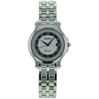 Seiko Women's SXDE41 Silver Stainless-Steel Quartz Watch with Silver Dial