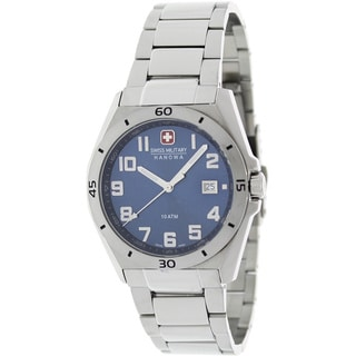 Swiss Military Hanowa Men's Guardian Steel and Blue Dial Quartz Watch