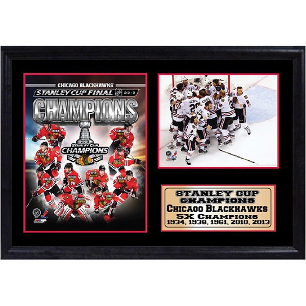 Chicago Blackhawks Champs 12 x 18 Photo Stat Frame 11727708