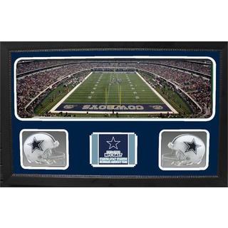 Dallas Cowboys Double Helmet Panoramic Frame