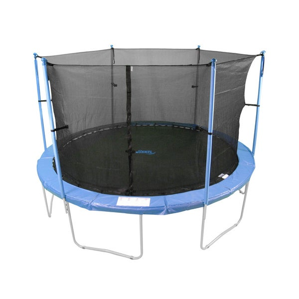 W-Shaped 16 ft. Trampoline Enclosure Set