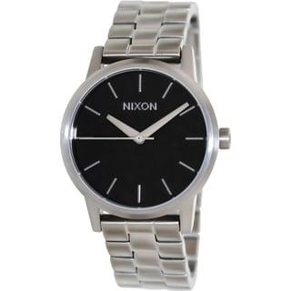 nixon s kensington silver stainless steel quartz