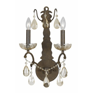 Versailles Antique Bronze 2-light Wall Sconce
