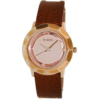 Nixon Women's Bobbi Brown Leather Rose-gold Quartz Watch