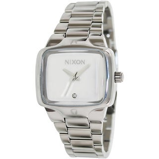 Nixon Women's Small Player Silver Stainless Steel Quartz Watch