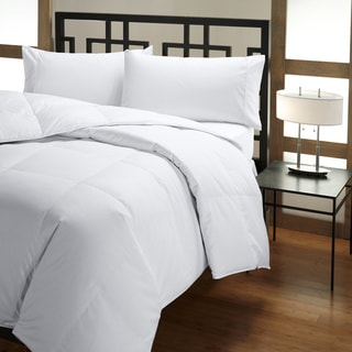 Extra Warmth 400 Thread Count Baffle Box Twin-size White Down Comforter