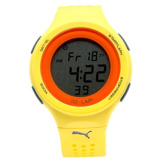 Puma Unisex PU911011004 Faas 200 Yellow Runner Digital Watch