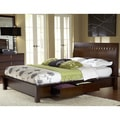 Chocolate Brown Square Cutout 4-drawer Storage Bed