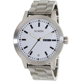 Nixon Men's Spur Silver Stainless Steel Quartz Watch with Day/Date Display