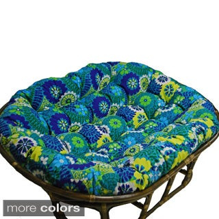 Blazing Needles 65-inch by 48-inch Indoor/Outdoor Double Papasan Cushion