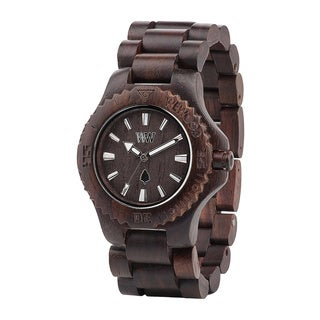 WeWOOD Date Brown Wood Analog Quartz Watch