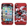 BasAcc Red Desert Camo/ Red TUFF Hybrid Case for Apple iPod Touch 4