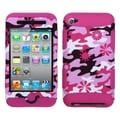 BasAcc Flower Camo/ Hot Pink TUFF Hybrid Case for Apple iPod Touch 4