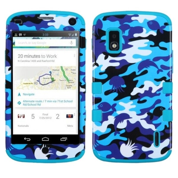 BasAcc Camouflage/ Teal TUFF Hybrid Case for LG E960 Nexus 4