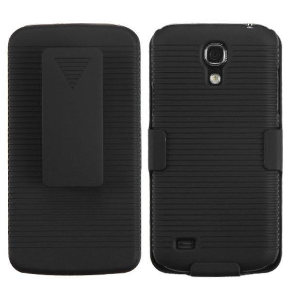 INSTEN Black Hybrid Holster with Phone Case Cover for Samsung Galaxy S4 mini