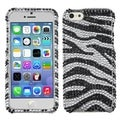 BasAcc Black Zebra Skin Diamante for Apple iPhone 5C