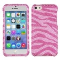 BasAcc Pink/ Hot Pink Zebra Skin Diamante for Apple iPhone 5C