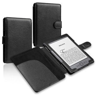 BasAcc Black Leather Case for Amazon Kindle 5