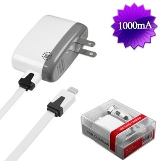 BasAcc 8-pin White Travel Charger for Apple iPhone 5/ 5S/ 5C
