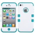 BasAcc Ivory White/ Tropical Teal TUFF Case for Apple iPhone 4/ 4S