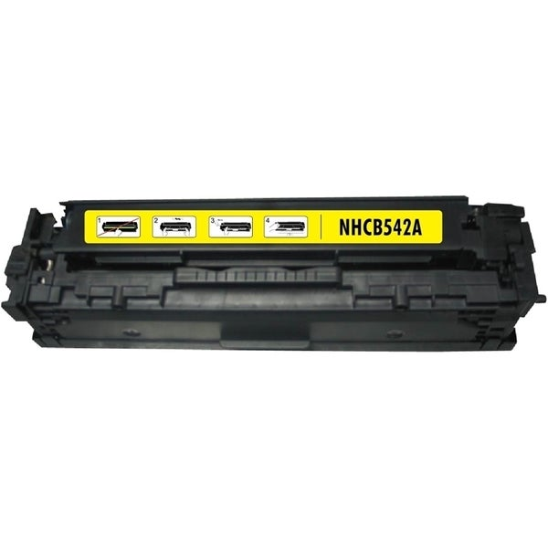 INSTEN Yellow Toner Cartridge for HP CB542A Canon 125A