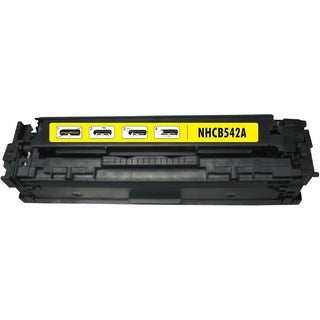 BasAcc Yellow Toner Cartridge Compatible with HP CB542A Canon 125A