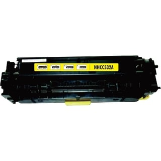 BasAcc Color Yellow Toner Cartridge Compatible with HP CC532A