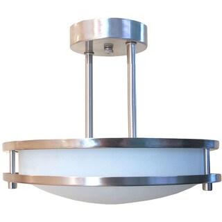 HomeSelects eLIGHT Round Semi Flush Mount Light