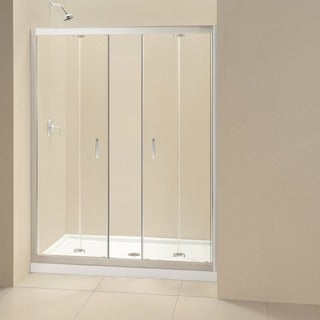 DreamLine Butterfly Bi-Fold Shower Door and 34x60-inch Shower Base