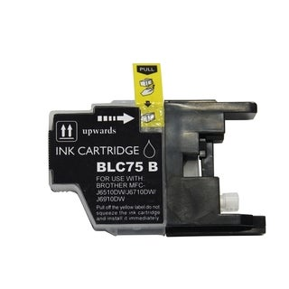 BasAcc Black Ink Cartridge Compatible with Brother LC75
