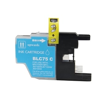 BasAcc Cyan Ink Cartridge Compatible with Brother LC75 C
