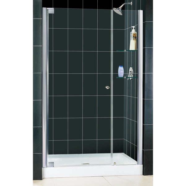 DreamLine Elegance Pivot Shower Door and 36x48-inch Shower Base